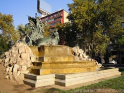 Fontána v centru Santiaga