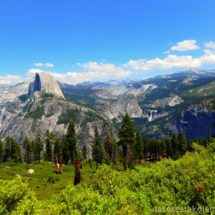 Half Dome z Glacier Pointu Yosemity