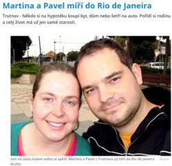 Krkonossky denik - Pavel a Martina vyrazi do Rio de Janeiro