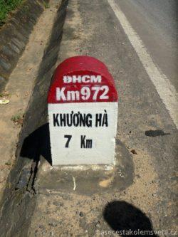 Kilometrovník na Ho Či Minově silnici