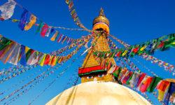 Modlitební vlajky v Nepálu