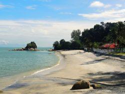 Pláž na Penangu