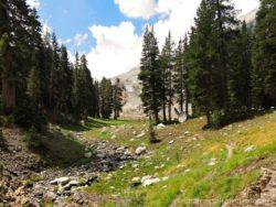 Stezka White Chief Canyon v Mineral King v Národním parku Sequoia